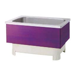 *JFE*KSWR120X ステンレス浴槽 KSWRシリーズ 2方半エプロン ストレート埋込タイプ[満水350L] 水玉レッド