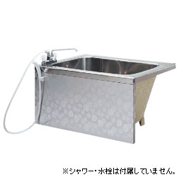 *JFE*KS110 GAN ステンレス浴槽 ホールインワン対応 1方全エプロン 背もたれ簡易着脱タイプ[満水240L]