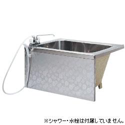 ホールインワン仕様。 *JFE*KS120TL GAN ステンレス浴槽 ホールインワン対応 1方全エプロン 背もたれ簡易着脱タイプ[満水218L]