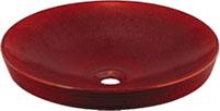 *KAKUDAI*洗面用丸型洗面器 493-014-R[鉄赤]