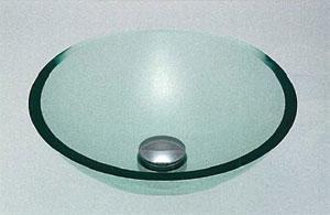 *KAKUDAI*493-025-C ガラス丸型手洗器