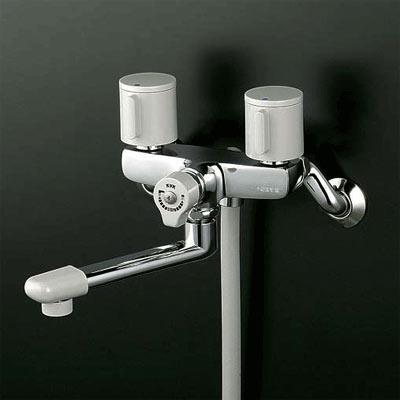 *KVK水栓金具*浴室用水栓一時止水式2ハンドルシャワーKF141G3【代引不可】