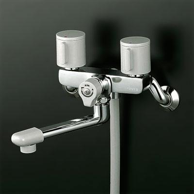 *KVK水栓金具*浴室用水栓2ハンドルシャワーKF140G3【代引不可】