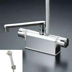 *KVK*KF771NTR3/KF771TR3/KF771YTR3 水栓金具 デッキ形サーモスタット式シャワー フルメタル【代引不可】