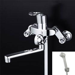 *KVK*KF550ZGHA 水栓金具 シングルレバー式シャワー 楽締めソケット付 [寒冷地用]【代引不可】