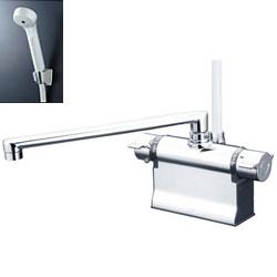 *KVK*KF3011TR3 水栓金具 デッキ形サーモスタット式シャワー 可変ピッチ式【代引不可】