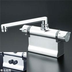 *KVK*KM3011ZT 水栓金具 デッキ形サーモスタット式混合栓 可変ピッチ式 寒冷地用