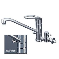 【3年保証付】*KVK*KM5041TTU/KM5041ZTTU 水栓金具 流し台用シングルレバー式混合栓