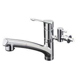 【3年保証付】*KVK*KM5021ZTTU 水栓金具 流し台用シングルレバー式シャワー付混合栓 寒冷地仕様【代引不可】