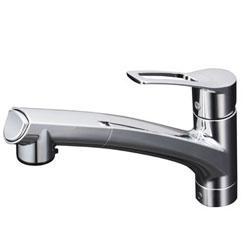 【3年保証付】*KVK*KM5021JT 水栓金具 流し台用シングルレバー式シャワー付混合栓 上施工タイプ
