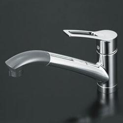 【3年保証付】*KVK*KM5031Z 水栓金具 流し台用シングルレバー式シャワー付混合栓 寒冷地仕様