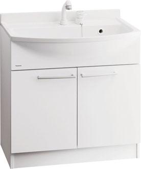 *パナソニック*GQM75KS[CW] / GQM75KS[CW]7 洗面化粧台 [MLINE] ベースキャビネット [間口75cm] ホワイト