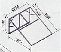 *ノーリツ*421A 太陽熱温水器専用架台 南向き傾斜面用・陸屋根用