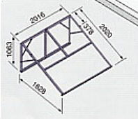 *ノーリツ*321A 太陽熱温水器専用架台 南向き傾斜面用・陸屋根用