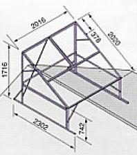 *ノーリツ*321B 太陽熱温水器専用架台 東西屋根用