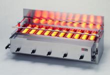 *リンナイ*RGA-410B 業務用グリル 1コック2バーナー ガス赤外線グリラー[下火式] 荒磯シリーズ