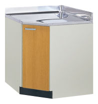*サンウェーブ*GK[W/F]-C-75KBL 調理台[コーナー用] GK-BLシリーズ 間口75cm