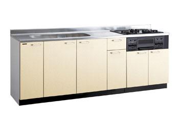 *タカラスタンダード*PIY220[L/R][PUI/PUL]+TN34-60 木製システムキッチン[P型フラット]流し台+コンロ
