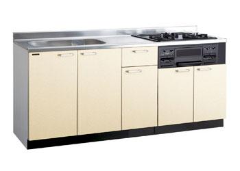 *タカラスタンダード*PIE170[L/R][PUI/PUL]+TN34-60 木製システムキッチン[P型フラット]流し台+コンロ