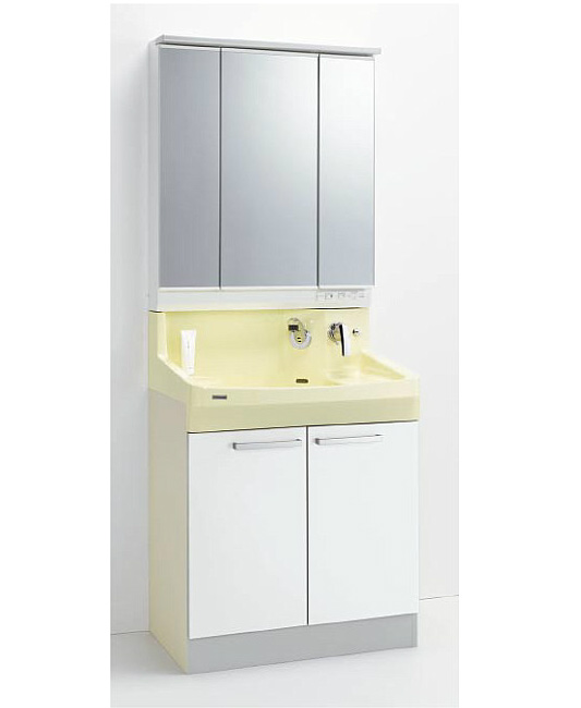 *クリナップ*ファンシオ 洗面化粧台セット 間口75cm M-753PFE+BPF[H/L]75TMY 開きタイプ