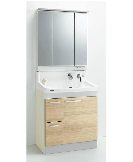 *クリナップ*ファンシオ 洗面化粧台セット 間口75cm M-753PFE+BPF[H/L]752MY 引出しタイプ