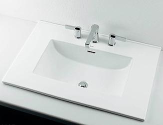 *KAKUDAI* 493-089 Luju 角型洗面器 [3ホール]【送料・代引無料】