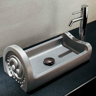 *KAKUDAI* 493-057 いらか[甍] 角型手洗器【送料・代引無料】