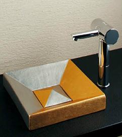 *KAKUDAI* 493-058-GT Luju[瑠珠] 角型手洗器 弦月【送料・代引無料】