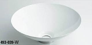 *KAKUDAI* 493-039-W[ホワイト] Kanna[鉄穴] 丸型手洗器【送料・代引無料】
