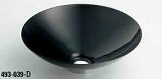 *KAKUDAI* 493-039-D[ブラック] Kanna[鉄穴] 丸型手洗器【送料・代引無料】