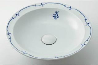 *KAKUDAI* 493-055-W [奏] 丸型洗面器 シルク【送料・代引無料】
