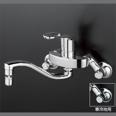 【3年保証無料】*KVK水栓金具*台所水栓シングルレバー式混合栓KM5000THS【送料無料/代引不可】
