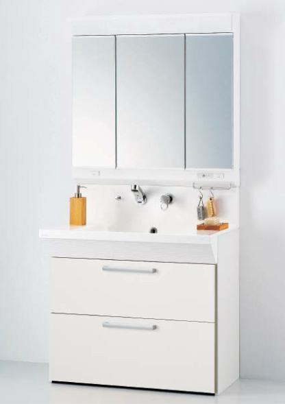 *永大産業/EIDAI*ティレIII セット品番 EKZ-R09SM3N-W/EKZ-R09SMA3N-W 洗面化粧台 ヴァーナルVシリーズ 間口90cm オールスライドタイプセット シングルレバーシャワー水栓
