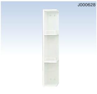 *永大産業/EIDAI* バリュータイプIII EKT-G151-F 洗面化粧台用 サイドミドルキャビネット 間口15cm ホワイト