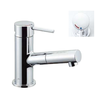 *INAX*洗面用水栓 吐水口引出式シングルレバー混合栓 eモダン[エコハンドル] LF-E345SYC[N]【送料・代引無料】