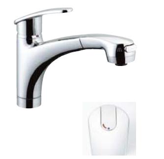 *INAX* キッチン用吐水口引出式[ハンドシャワー付] シングルレバー混合栓 アウゼ[エコハンドル] SF-A451SYX[N]
