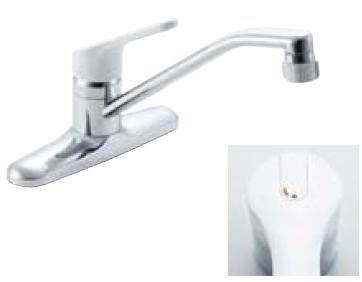*INAX* キッチン用[キッチンシャワー付] シングルレバー混合栓 ノルマーレ[エコハンドル] SF-HE434SY[N]