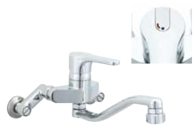 *INAX* キッチン用[キッチンシャワー付] シングルレバー混合栓 クロマーレ[エコハンドル] 壁付タイプ SF-HB433SYN 寒冷地