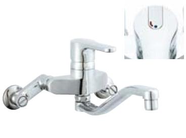 *INAX* キッチン用 シングルレバー混合栓 クロマーレ[エコハンドル] 壁付タイプ SF-HB436SYN 寒冷地