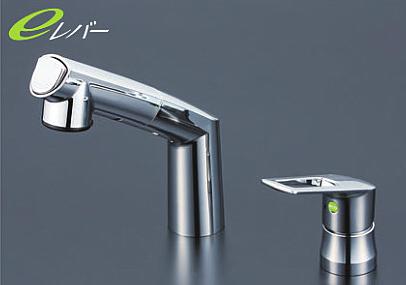 *KVK水栓金具* 洗面用シングルレバー式洗髪シャワー KM5271TEC eレバー 一般地用【送料無料/代引不可】