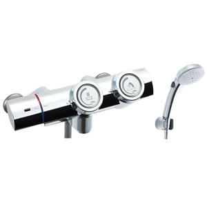 *INAX*BF-HW156TNSCW サーモスタット付シャワーバス水栓 エコフルスイッチシャワー 寒冷地用【送料・代引無料】