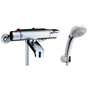 *INAX*BF-2147TKNSBW サーモスタット付シャワーバス水栓 エコフルスイッチ多機能シャワー 寒冷地用【送料・代引無料】