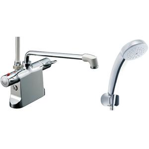 *INAX*BF-B646TNSC[300]-A100 サーモスタット付シャワーバス水栓エコフルスプレーシャワー[メッキ仕様]寒冷地用【送料・代引無料】