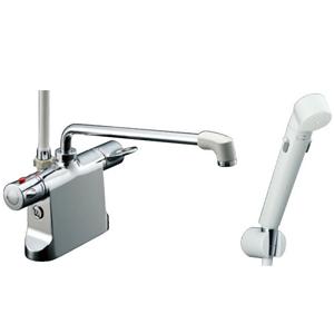 *INAX*BF-B646TSDW[300]-A100 サーモスタット付シャワーバス水栓エコフルスイッチシャワー【送料・代引無料】