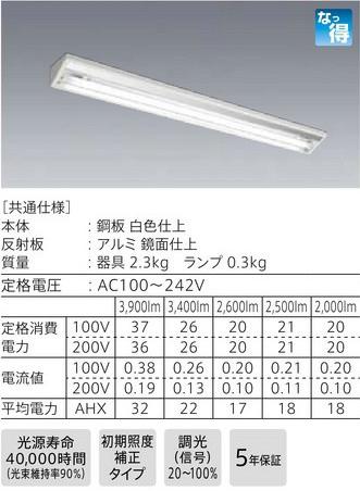 *三菱電機*EL-LYX4011A+LDL40S・N/17/25・N3 直管LEDランプ搭載ベースライト 直付形 ウォールウォッシャ器具 昼白色5000K【送料・代引無料】