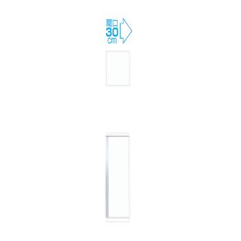 【メーカー直送のみ】*マイセット* Y3-30U[右/左]+Y3-30F[右/左] 天袋+フロアユニットセット 2点組合せタイプ Y3シリーズ 玄関収納 ベーシックタイプ [間口30cm]