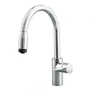 *パナソニック*QSKM807ZPC グースネック水栓[ハンドシャワー付] クロムメッキ 寒冷地用【送料・代引無料】