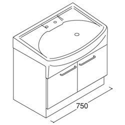 *トクラス*YTAQ075AS[W/P]WF 洗面化粧台 jolie ベースキャビネット 開き扉タイプ 間口750mm