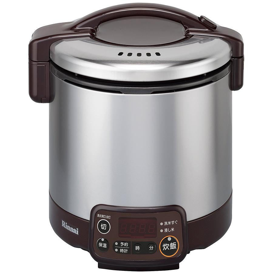 リンナイ ガス炊飯器 こがまる RR-030VMT(DB) 電子ジャー・タイマー付/ダークブラウン[都市ガス プロパン]