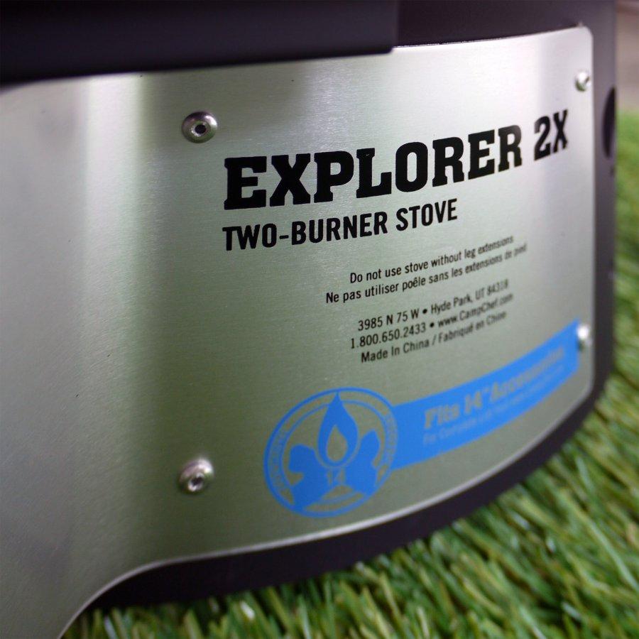 CampChef  2バーナーBBQグリル EXPLORER 2X EX60FP(J) [国内正規品][屋外専用/LPガス専用]キャンプシェフ ガスグリル バーベキュー《山梨倉庫出荷》
